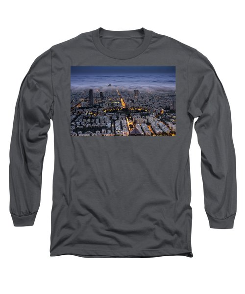 Long Sleeve T-Shirt featuring the photograph Here Comes The Fog  by Ron Shoshani