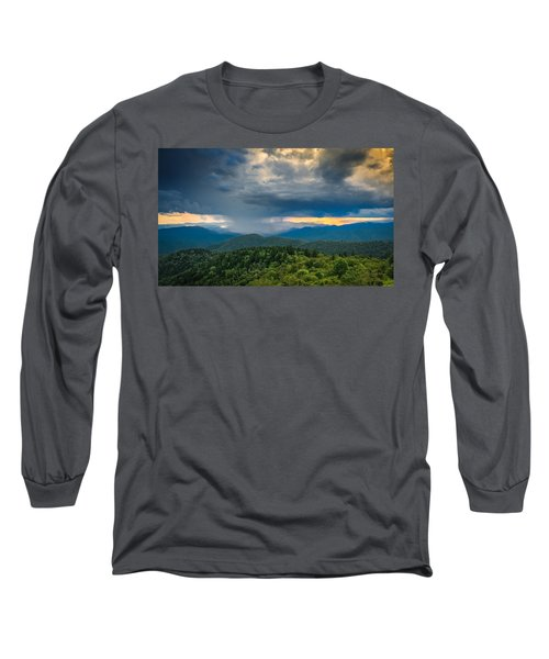 Long Sleeve T-Shirt featuring the photograph Here Comes The Rain by Joye Ardyn Durham