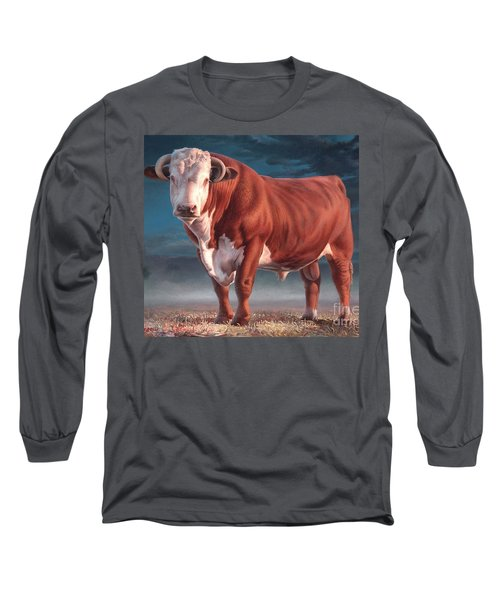 Hereford Bull Long Sleeve T-Shirt by Hans Droog