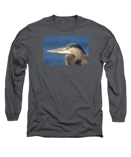Long Sleeve T-Shirt featuring the photograph Heron Close-up by Christiane Schulze Art And Photography