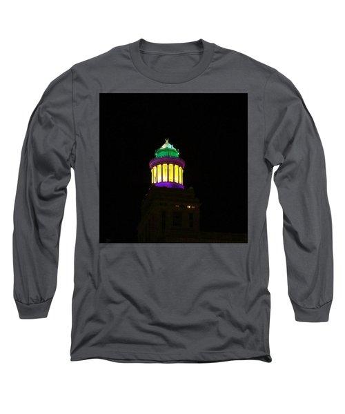 Hibernia Tower - Mardi Gras Long Sleeve T-Shirt by Deborah Lacoste