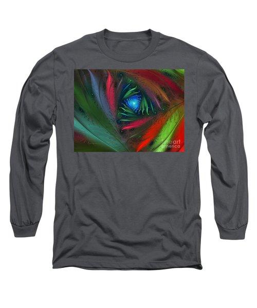 Hidden Jungle Plant-abstract Fractal Art Long Sleeve T-Shirt
