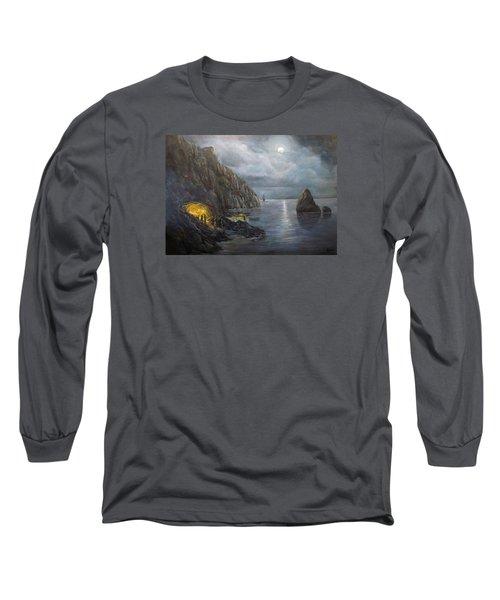 Hiding Treasure Long Sleeve T-Shirt by Donna Tucker