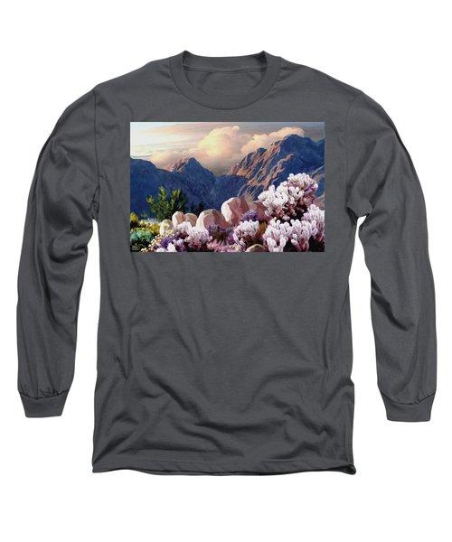 High Desert Sunrise Long Sleeve T-Shirt by Ron Chambers