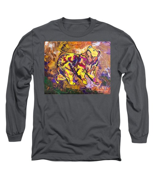 Long Sleeve T-Shirt featuring the painting Highland's North Carolina Bear by Janice Rae Pariza