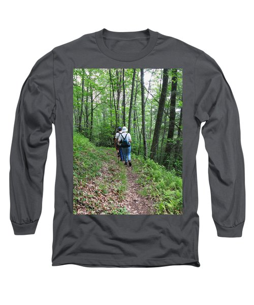 Hiking Group Long Sleeve T-Shirt by Melinda Fawver