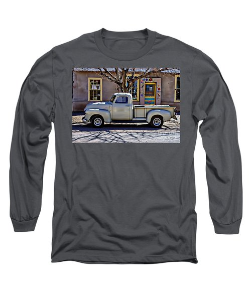 Long Sleeve T-Shirt featuring the painting Hillsboro New Mexico 1949 Gmc 100 by Barbara Chichester