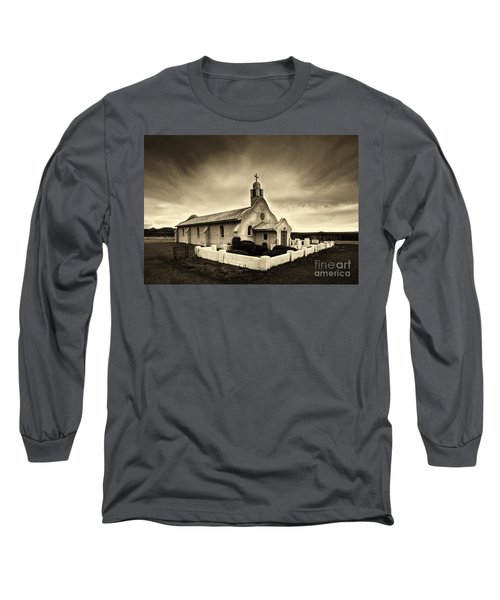 Historic Old Adobe Spanish Style Catholic Church San Ysidro New Mexico Long Sleeve T-Shirt by Jerry Cowart