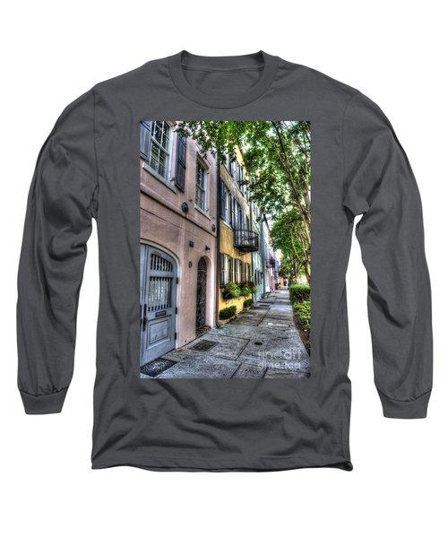 Historic Rainbow Row Long Sleeve T-Shirt