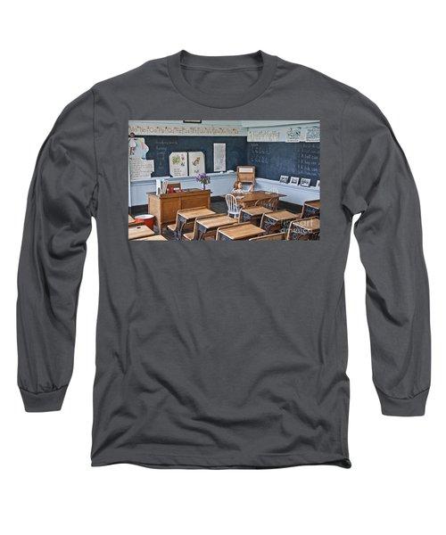 Historic School Classroom Art Prints Long Sleeve T-Shirt by Valerie Garner