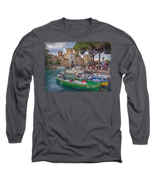 History At Lake Garda Long Sleeve T-Shirt by Hanny Heim