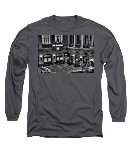 Hoboken Terminal Waiting Room Long Sleeve T-Shirt by Anthony Sacco