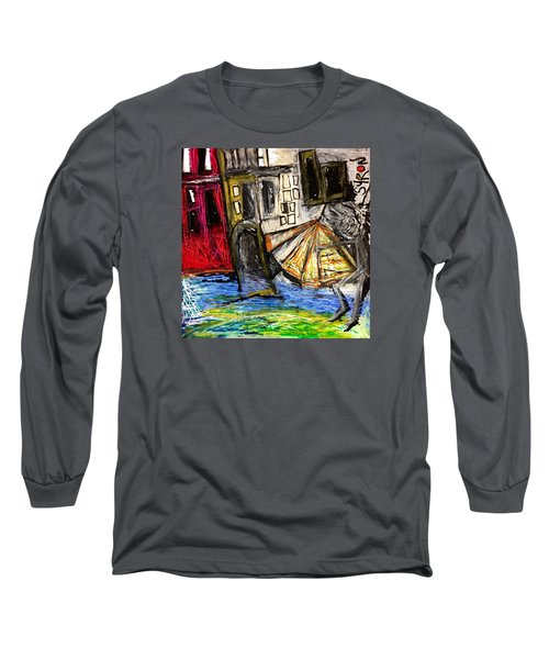 Holiday In Venice Long Sleeve T-Shirt by Helen Syron
