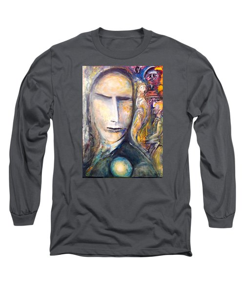 Long Sleeve T-Shirt featuring the painting Hollow Man  by Kicking Bear  Productions