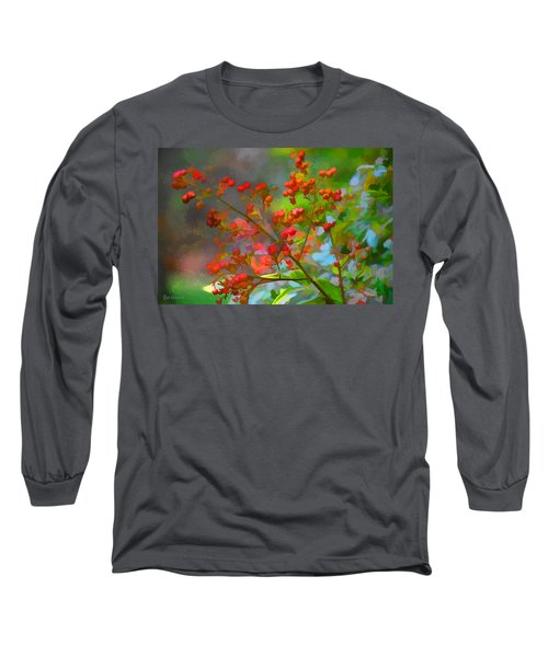 Holly Berry Long Sleeve T-Shirt by Bonnie Willis