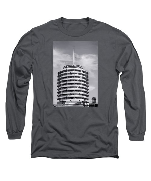 Hollywood Landmarks - Capital Records Long Sleeve T-Shirt by Art Block Collections