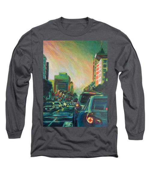 Hollywood Sunshower Long Sleeve T-Shirt by Bonnie Lambert