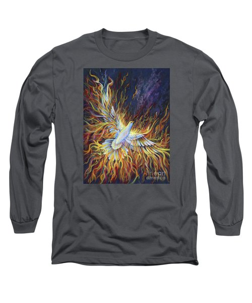 Holy Fire Long Sleeve T-Shirt by Nancy Cupp