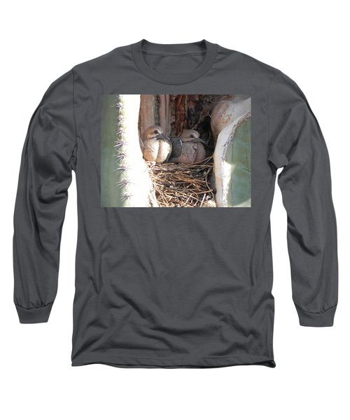 Long Sleeve T-Shirt featuring the photograph Home All Alone by Deb Halloran