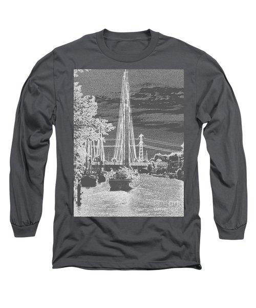 Long Sleeve T-Shirt featuring the photograph Home Sail by Luc Van de Steeg