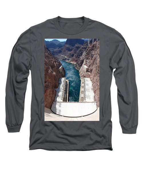Long Sleeve T-Shirt featuring the photograph Hoover Dam Black Canyon by John Schneider