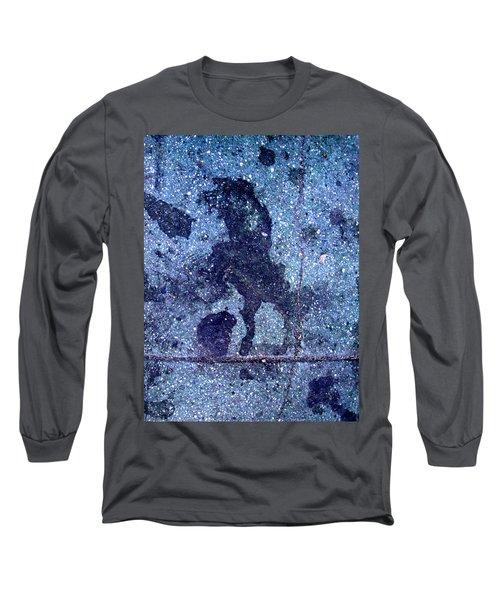 Horse Smashing Evil On Skid Row Long Sleeve T-Shirt