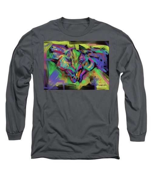 Horses Together In Colour Long Sleeve T-Shirt