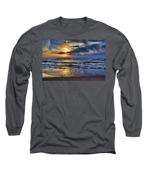 Hot April Sunset Saugatuck Michigan Long Sleeve T-Shirt