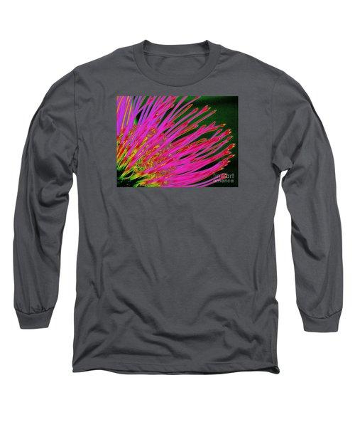 Hot Pink Protea Long Sleeve T-Shirt by Ranjini Kandasamy