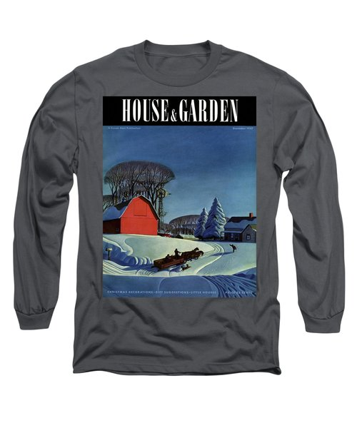 House And Garden Christmas Decoration Cover Long Sleeve T-Shirt