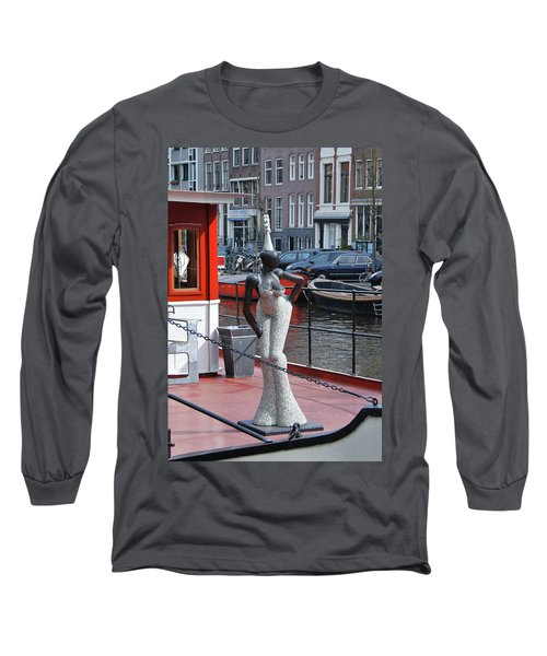 Long Sleeve T-Shirt featuring the photograph Houseboat Chanteuse by Allen Beatty