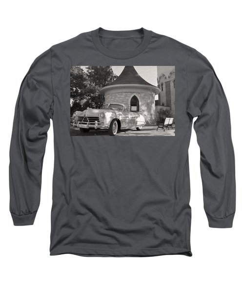 Long Sleeve T-Shirt featuring the photograph Hudson Commodore Convertible by Verana Stark