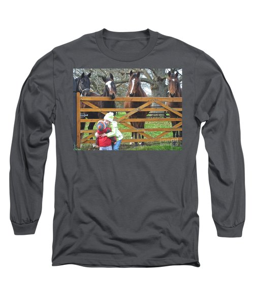 Hugs And Kisses Long Sleeve T-Shirt by Suzanne Oesterling