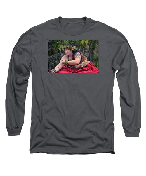Hula Woman Long Sleeve T-Shirt