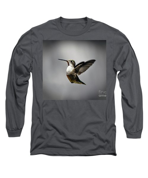 Hummingbird Long Sleeve T-Shirt by Savannah Gibbs