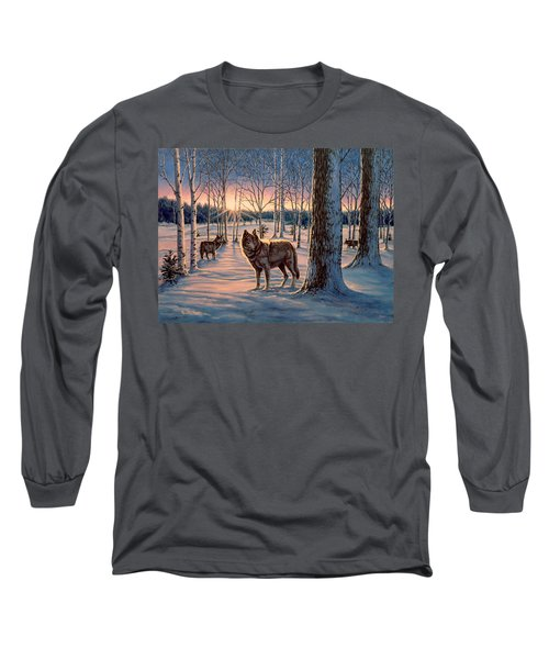 Hunters At Twilight Long Sleeve T-Shirt