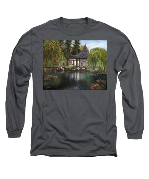 Huntington Chinese Gardens Long Sleeve T-Shirt by LaVonne Hand
