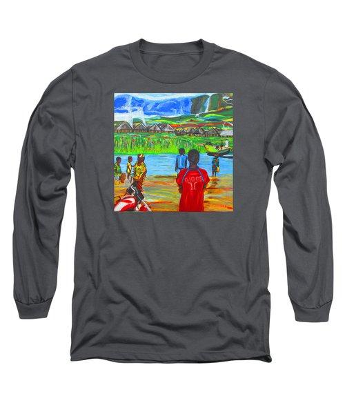 Hurry Up There - Ryan Giggs Tribute Long Sleeve T-Shirt by Mudiama Kammoh