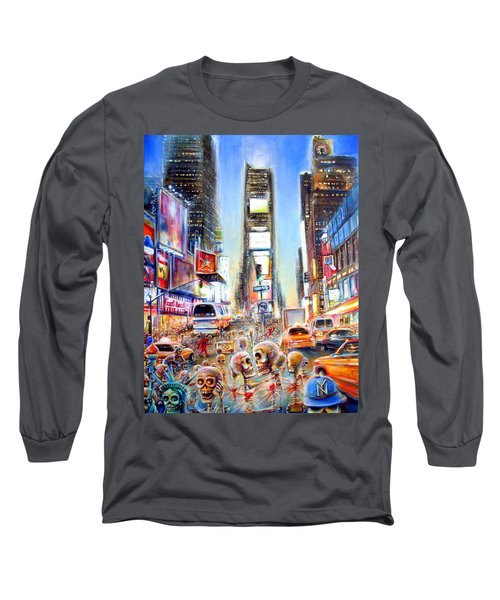 Long Sleeve T-Shirt featuring the painting I Heart Ny by Heather Calderon