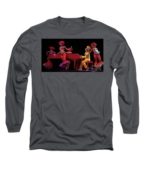 I Love Rock And Roll Music Long Sleeve T-Shirt by Bob Christopher