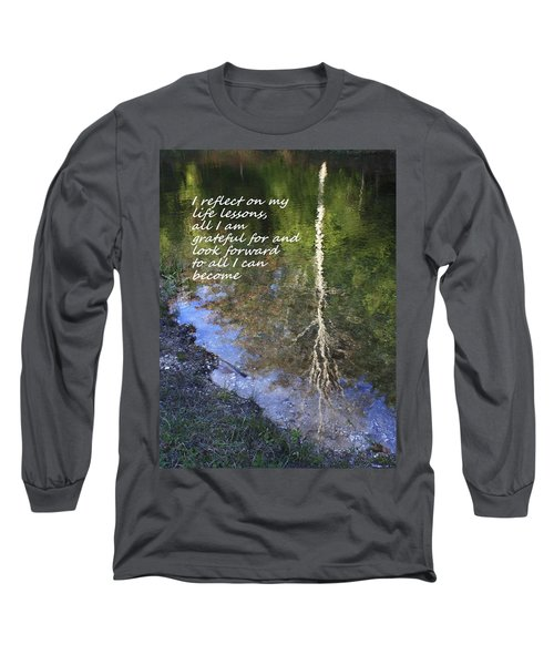 Long Sleeve T-Shirt featuring the photograph I Reflect by Patrice Zinck