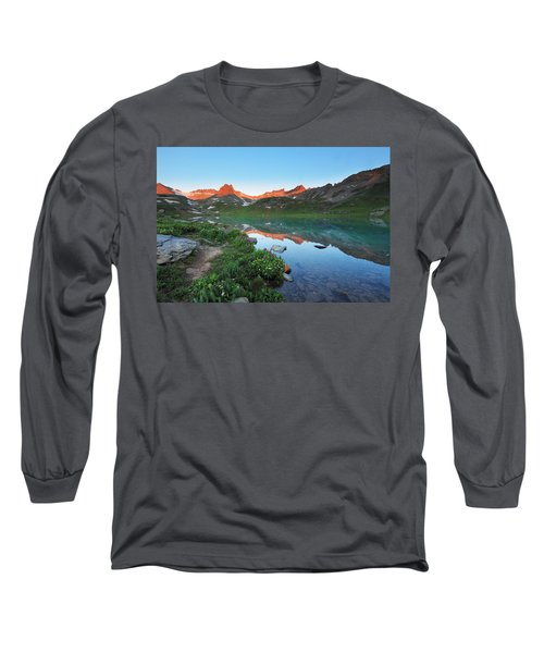 Ice Lake Sunrise Long Sleeve T-Shirt
