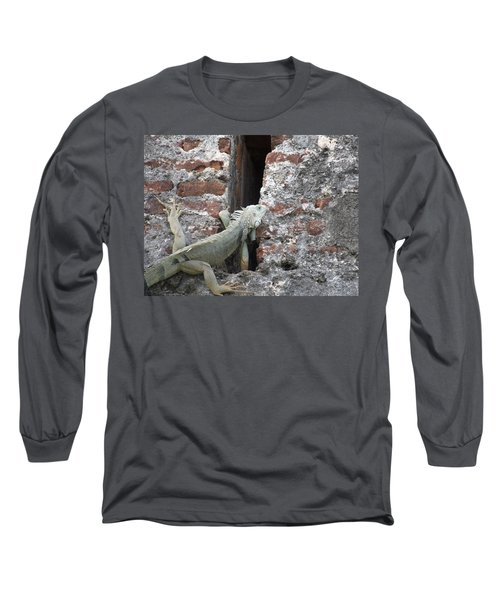 Long Sleeve T-Shirt featuring the photograph Iguana by David S Reynolds