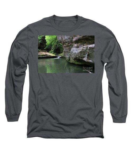 Illinois Canyon May 2014 Long Sleeve T-Shirt by Paula Guttilla