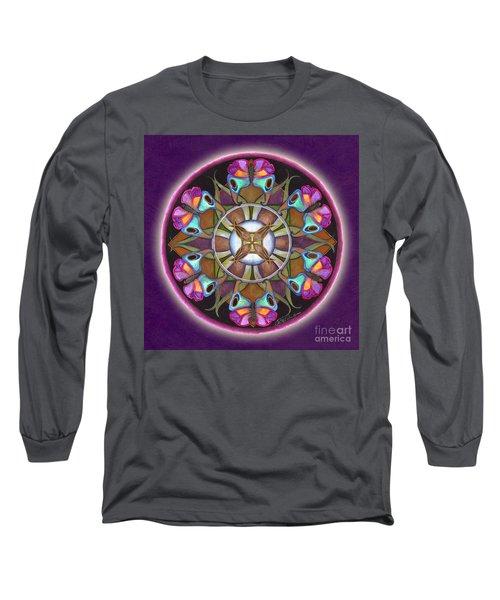 Illusion Of Self Mandala Long Sleeve T-Shirt
