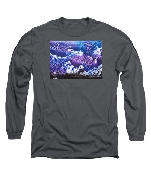 Long Sleeve T-Shirt featuring the painting Imagination 3 by Vesna Martinjak