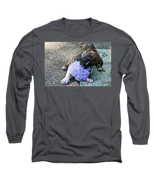 Imma Git U    Pit Bull Pup Long Sleeve T-Shirt