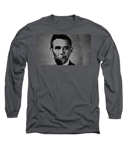 Impressionist Interpretation Of Lincoln Becoming Obama Long Sleeve T-Shirt