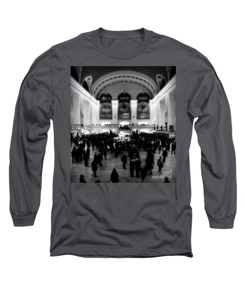 In Awe At Grand Central Long Sleeve T-Shirt by James Aiken