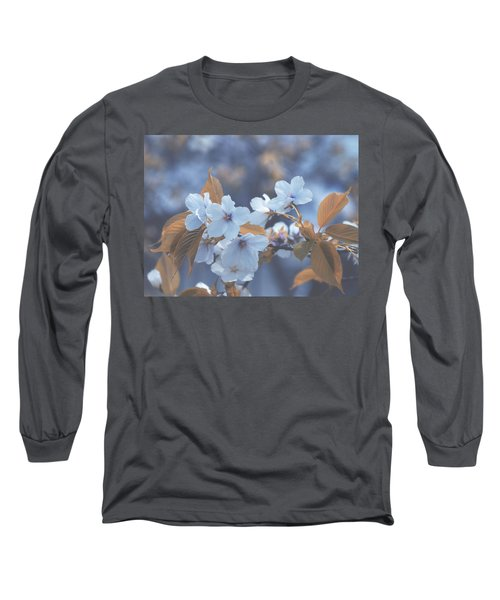 In Blue Long Sleeve T-Shirt by Rachel Mirror